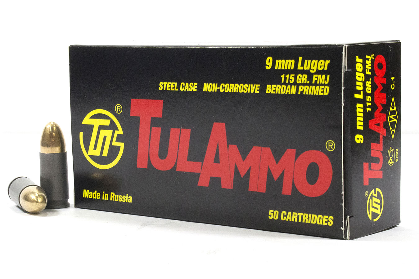 9MM 115 GR FMJ STEEL CASE