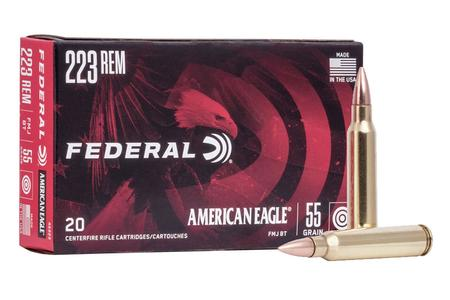 Federal 223 Rem 55 gr FMJ Boat-Tail 500 Rounds