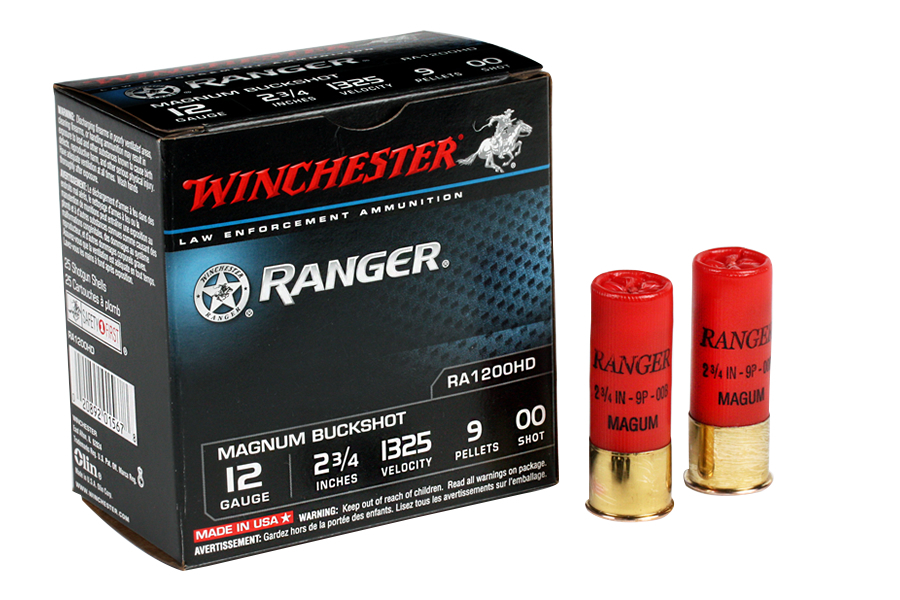 12 GA 2 3/4 9 PEL. RANGER 00 BUCK 25/BOX