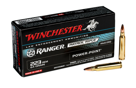 WINCHESTER AMMO 223 REM 64 GR RANGER POWER-POINT 20/BOX