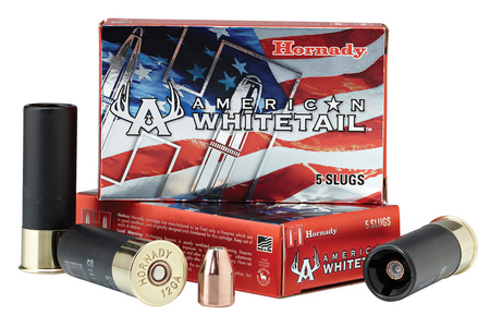 HORNADY 12 Ga 325 gr Interlock American Whitetail Slug 5/Box