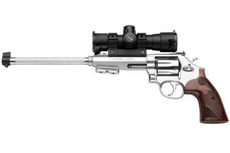 SMITH AND WESSON 647 17 HMR REVOLVER W/ SCOPE AND BIPOD