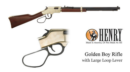 HENRY REPEATING ARMS GOLDEN BOY 17HMR WITH LARGE LOOP