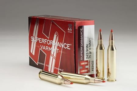 Hornady 243 Winchester 75 gr V-Max Superformance Varmint 20/Box
