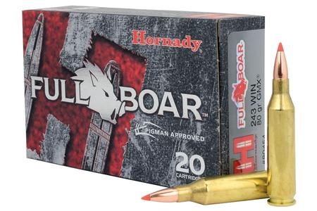 Hornady 243 Win 80 gr GMX Full Boar 20/Box