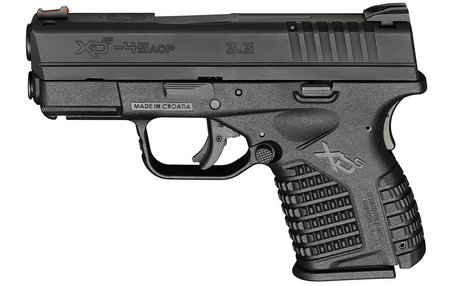 SPRINGFIELD XDS 3.3 45ACP ESSENTIALS PACKAGE BLACK