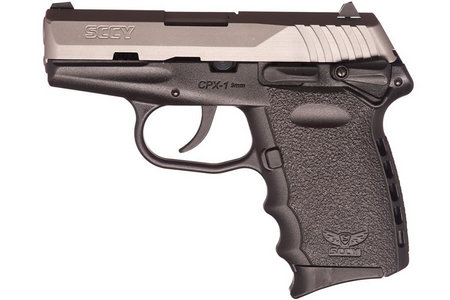 SCCY CPX-1 9mm Two-Tone Pistol with Manual Safety