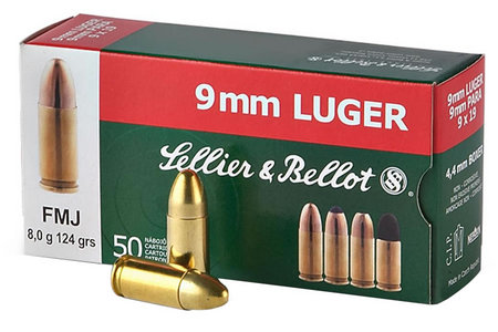 SELLIER AND BELLOT 9mm 115 GR FMJ 50/BOX