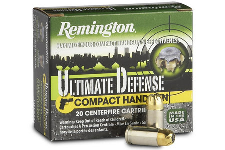 REMINGTON 9mm Luger 125 gr BJHP Ultimate Defense Compact Handgun 20/Box