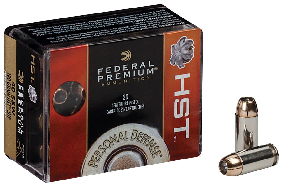FEDERAL AMMUNITION 40 SW 180 GR HST TACTICAL JHP