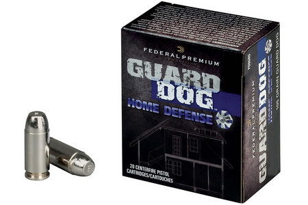 FEDERAL AMMUNITION 45 Auto 165 gr Expanding FMJ Guard Dog 20/Box