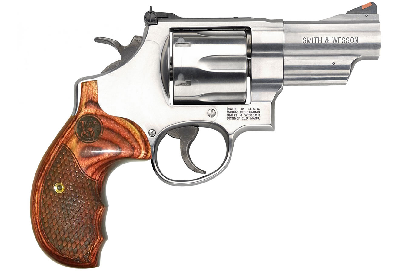 629 Deluxe 44 Magnum Revolver with Textured Wood Grips