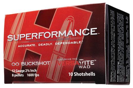 Hornady 12 Ga 2 3/4 in. 00 Buckshot Superformance 10/Box
