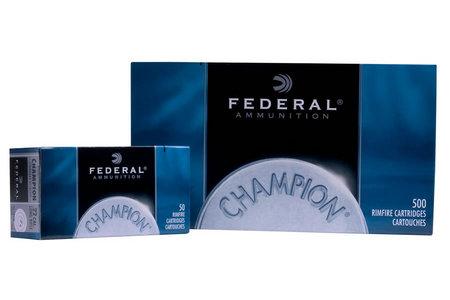 FEDERAL AMMUNITION 22 LR 40 gr Solid Champion 500 Round Brick