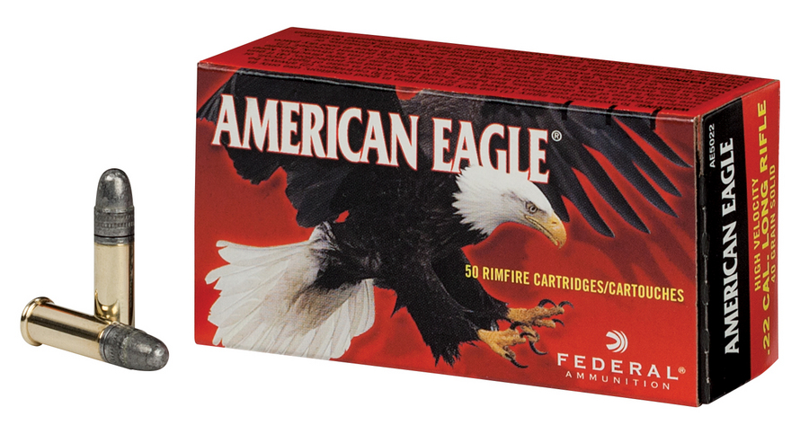 federal 22 lr 40 gr solid american eagle 500 round brick