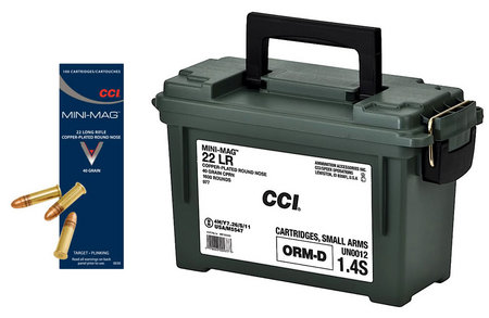 CCI AMMUNITION 22 LR 40 gr CPRN Mini Mag with Ammo Can 1600 Rounds