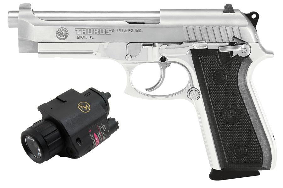 Taurus Pt92 Af 9mm Stainless With Light Laser Sportsman