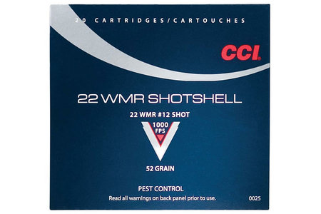 CCI AMMUNITION 22 WMR 52 gr #12 Shot Maxi Mag 20/Box