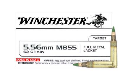 WINCHESTER AMMO 5.56mm 62 gr M855 Penetrator FMJ 20/Box