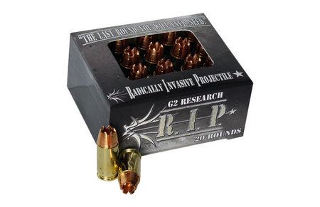 G2 RESEARCH 380 ACP 62 gr Solid Copper R.I.P 20/Box