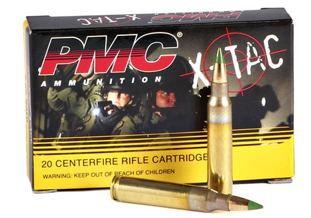 PMC X-TAC 5.56mm NATO 62 gr M855 Green-Tip 20/Box