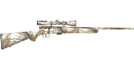 SAVAGE 93R17 XP 17 HMR SNOW CAMO WITH SCOPE