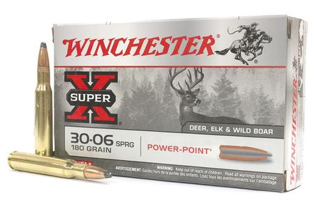 WINCHESTER AMMO 30-06 Springfield 180 gr Power Point Super X 20/Box