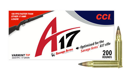 CCI 17 HMR 17 gr Varmint Tip A17 200/Box