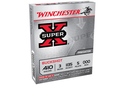 Winchester 410 Ga 3 in 5 oz 000 Super X 5/Box