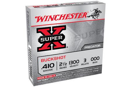 WINCHESTER AMMO 410 Bore 2-1/2 in 3 Pellet 000 Super X 5/Box