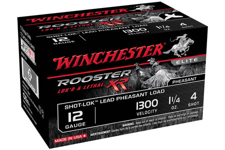 Winchester 12 Ga 3 in 1-3/8 oz #4 Rooster XR 15/Box