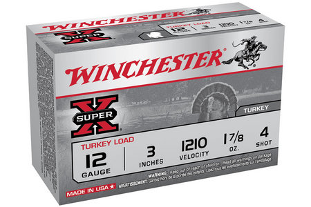 WINCHESTER AMMO 12 Ga 3 in 1-7/8 oz #4 Super X 10/Box