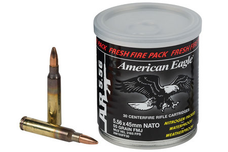 5.56X45MM 55 GR FMJ FRESH FIRE 30 ROUNDS