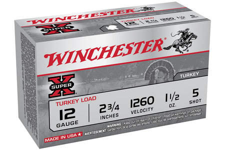 WINCHESTER AMMO 12 Ga 2 3/4 in 1 1/2 oz #5 Shot Super X 10/Box