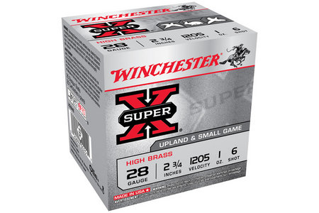 WINCHESTER AMMO 28 Ga 2 3/4 in 1 oz #6 Shot Super X 25/Box