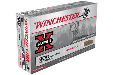 WINCHESTER AMMO 300 Win Mag 150 gr Power Point Super X 20/Box