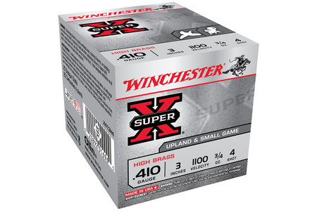 Winchester 410 Ga 3 in 3/4 oz #4 Shot Super X 25/Box
