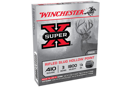 Winchester 410 Ga 3 in 1/4 oz Rifled Super X 5/Box