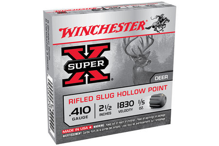WINCHESTER AMMO 410 Ga 2 1/2 in 1/5 oz Rifled Super X 5/Box