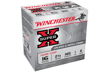 Winchester 16 Ga 2 3/4 in 1 oz #6 Shot Super X 25/Box