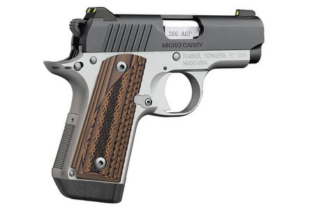 KIMBER Micro Carry Advocate 380 Auto with Night Sights and Brown G10 Grips
