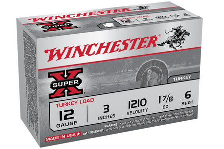WINCHESTER AMMO 12 Ga 3 in 1 7/8 oz #6 Shot Super X 10/Box