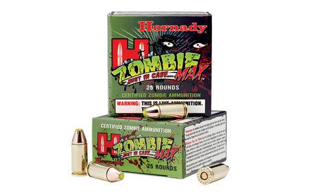 HORNADY 380 Auto +P gr Z-Max Zombie Ammo 25/Box