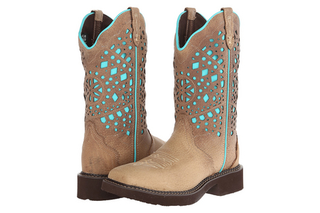 SAND GYPSY BOOTS WITH TURQUOISE TOP