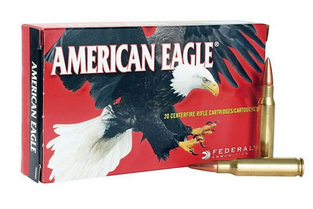 FEDERAL AMMUNITION 22-250 Remington 50 gr JHP American Eagle 20/Box