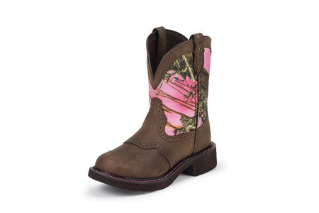 LADIES GYPSY PINK 8 IN. PINK CAMO BOOT