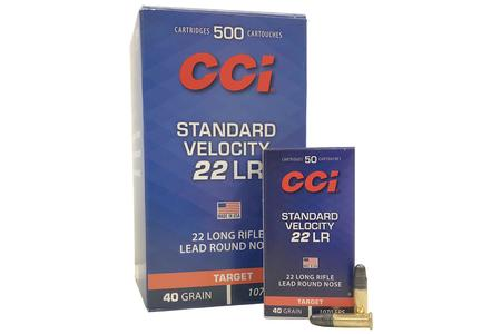 CCI AMMUNITION 22LR 40 gr LRN Standard Velocity Target 500 Round Brick