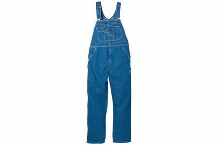 BLEACHED DENIM OVERALL