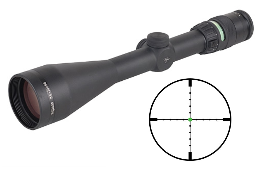 ACCUPOINT 2.5-10X56 MIL-DOT RIFLESCOPE