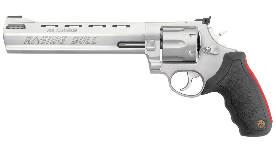 taurus model 444 raging bull 44 magnum stainless revolver 8 3 8